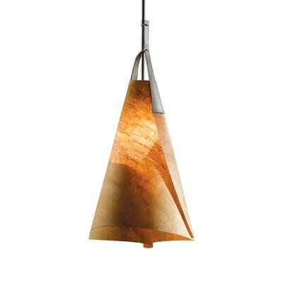 Mobius 1-Light Mini Pendant Finish: Translucent Dark Smoke, Shade: Natural Cork