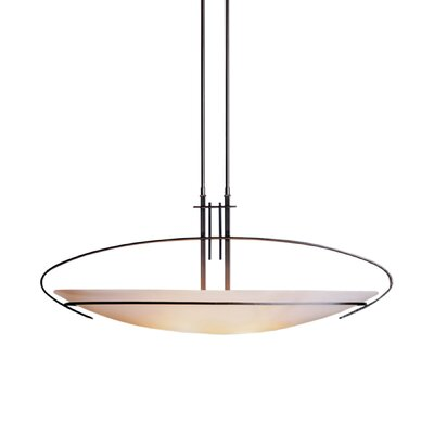 Mackintosh 2-Light Bowl Pendant Finish: Translucent Burnished Steel, Shade Size / Stem Length: Large / 29 to 36
