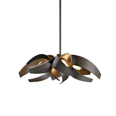 Corona 4-Light Geometric Pendant Finish: Dark Smoke, Stem Length: 36.5 - 44.1