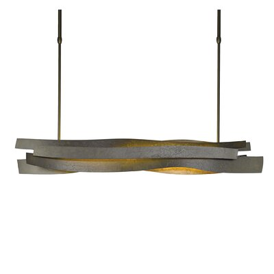 Landscape Linear Pendant Size: 61.7 H x 5.3 W, Finish: Natural Iron