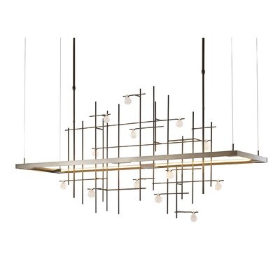 4 Seasons Spring LED Kitchen Island Pendant Finish: Burnished Steel, Size: Large