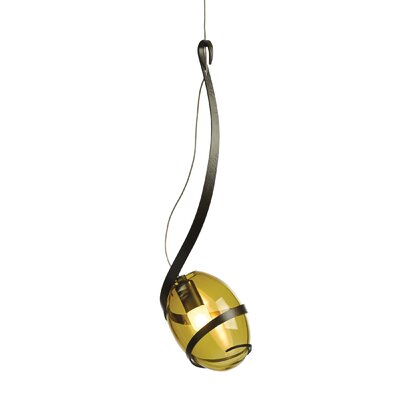 Pinot 1-Light LED Mini Pendant Finish: Dark Smoke, Shade Color: Green Tea