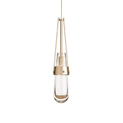 Link 1-Light Mini Pendant Shade Color: Blue Bubble