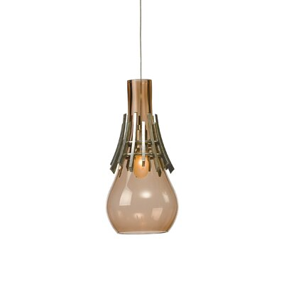 Colette 1-Light Mini Pendant Shade Color: Rose