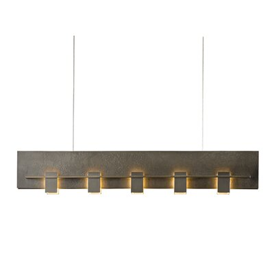 5-Light Kitchen Island Pendant Finish: Burnished Steel