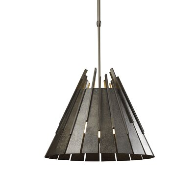 Finn Pendant Stem Length: Short, Finish: Burnished Steel