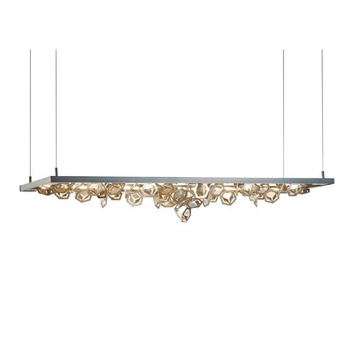 4 Seasons Kitchen Island Pendant Finish: Dark Smoke/Soft Gold