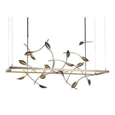 4 Seasons Autumn LED Kitchen Island Pendant Finish: Burnished Steel, Size: Small
