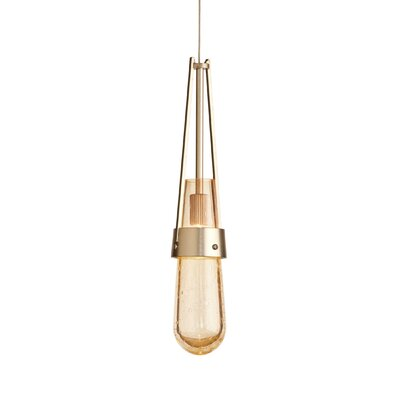 Link 1-Light Mini Pendant Shade Color: Gold Bubble