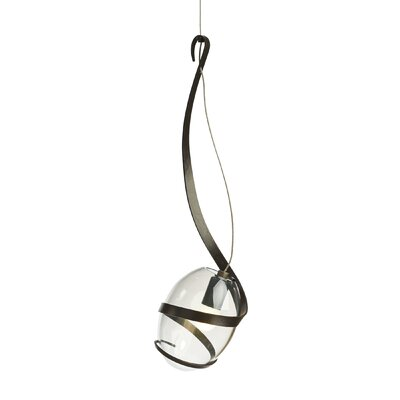 Pinot 1-Light LED Mini Pendant Finish: Dark Smoke, Shade Color: Clear