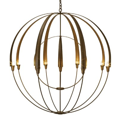 Cirque 12-Light Globe Pendant Finish: Burnished Steel