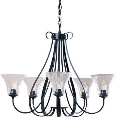5-Light Shaded Chandelier Finish: Black
