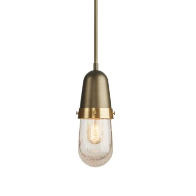 Fizz 1-Light Mini Pendant Finish: Burnished Steel, Size: 58.7 H x 4.1 W x 4.1 D