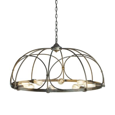 Arbor 8-Light Inverted Pendant Finish: Burnished Steel