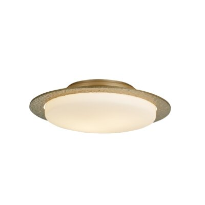 Oceanus 2-Light Semi Flush Mount Finish: Vintage Platinum, Shade Color: Stone
