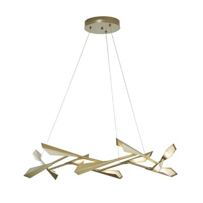 Quill 10-Light LED Cluster Pendant Finish: Soft Gold