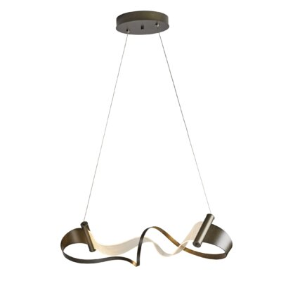 Zephyr LED Geometric Pendant Finish: Burnished Steel