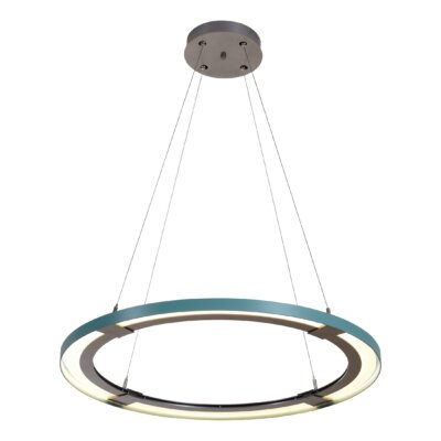 Wes 1-Light Geometric Pendant Shade Color: Silver