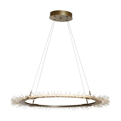 Cowart Circular 1-Light Geometric Pendant Finish: Satin White