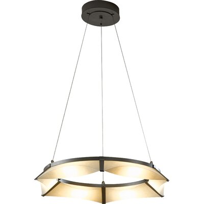 Bento LED Geometric Pendant Finish: Black