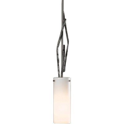 Brindille 1-Light Mini Pendant Finish: Translucent Burnished Steel, Glass Color: Pearl