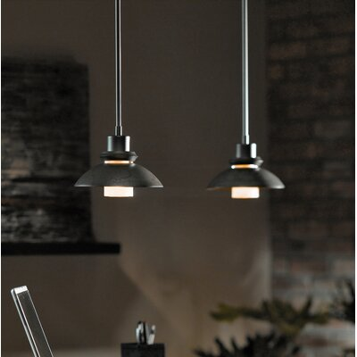 Staccato 1-Light Pendant Glass: Round, Finish: Translucent Burnished Steel, Size / Stem Length: Short / 29.5 to 36.9