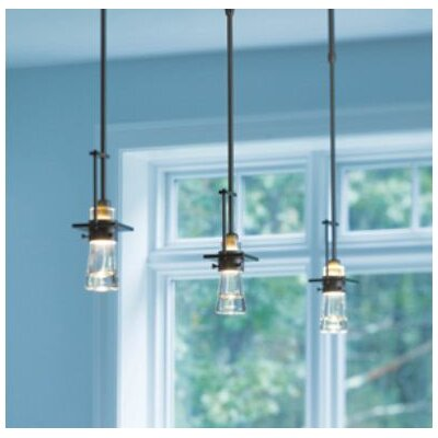 Erlenmeyer 1-Light Mini Pendant Finish: Translucent Burnished Steel, Size: Long (40.2 - 52.6)