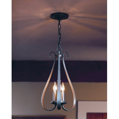 3-Light Candle-Style Chandelier Finish: Black
