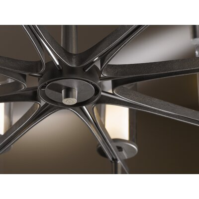 Constellation 8-Light Shaded Chandelier Finish: Natural lron, Shade Color: Opal