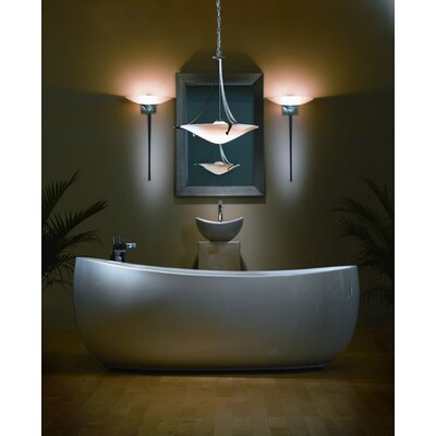 Antasia 1-Light Bowl Pendant Bulb Type: (1) 100W A-19 medium base bulb, Shade Color: Opal, Finish: Natural lron