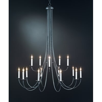 15-Light Candle-Style Chandelier Finish: Dark Smoke