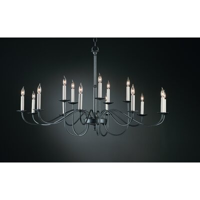 15-Light Candle-Style Chandelier Finish: Black