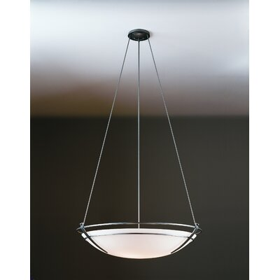 Tryne 3-Light Inverted Pendant Finish: Natural lron, Shade Color: Opal, Size: 32.2 H