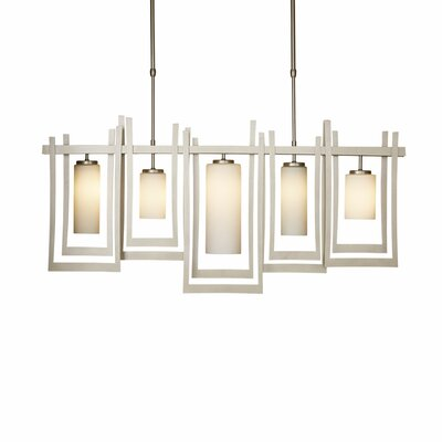 New Traditional Chime 5-Light Kitchen Island Pendant Finish: Vintage Platinum, Adjustable Height: 30 - 37.3