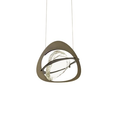 Venn 1-Light Geometric Pendant Finish: Black