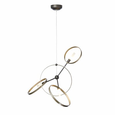Celesse 3-Light Geometric Pendant Finish: Burnished Steel, Accent: Vintage Platinum