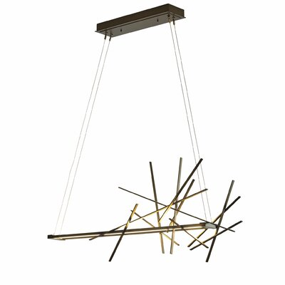 Cascade 1-Light Kitchen Island Pendant Finish: Soft Gold