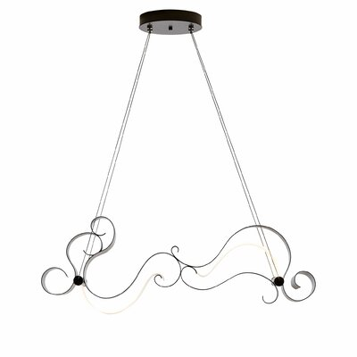 Trapeze 1-Light Pendant Finish: Burnished Steel