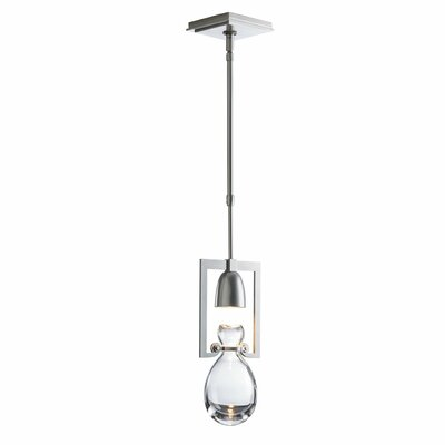 New Traditional Apothecary 1-Light Mini Pendant Finish: Burnished Steel, Adjustable Height: 40.8 - 60