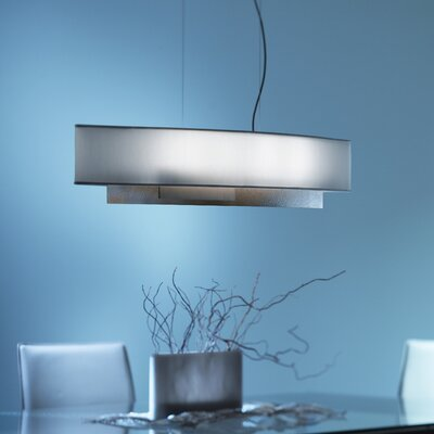 Current 4-Light Drum Pendant Finish: Translucent Dark Smoke, Shade: Natural Anna