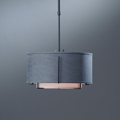 Exos Double Shade 1-Light Adjustable Drum Pendant