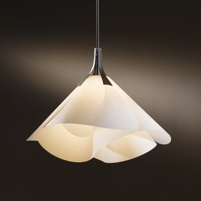 Mobius 1-Light Mini Pendant Finish: Translucent Burnished Steel, Shade: Spun Amber