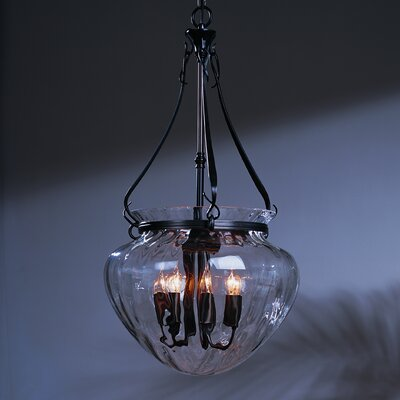 7-Light Foyer Pendant Finish: Dark Smoke