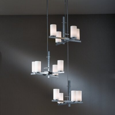 Ondrian 12-Light Kitchen Island Pendant Finish: Dark Smoke, Shade Color: Opal