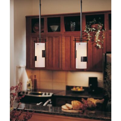 1-Light Mini Pendant Finish: Translucent Bronze, Glass: Stone