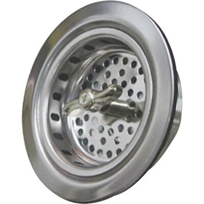 World Wide Sourcing Spin-Lock Stainless Steel Sink Strainer