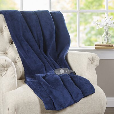 Microplush Heated Throw Color: Royal Blue