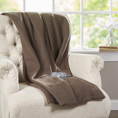 Fleece Heated Throw Color: Walnut