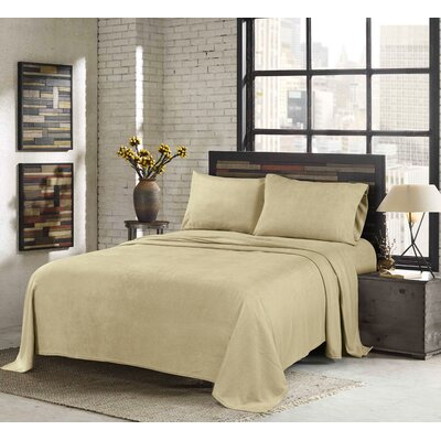 Sunbeam Super Soft Heavy Weight Fleece Sheet Set Size: Queen
