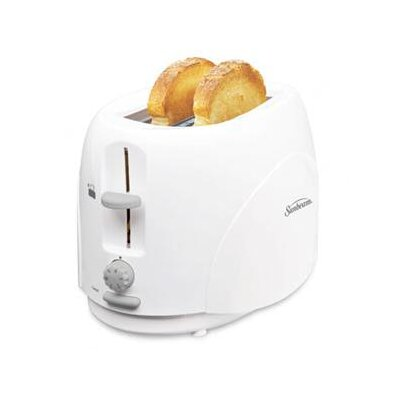 2 Slice Toaster With Simple Dial In White